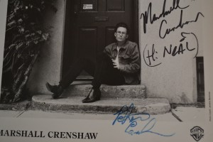 Marshall Crenshaw autograph - Writing and Editing