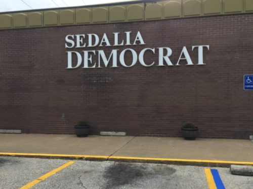 The Sedalia Democrat, just as it looked when I left it in 1991.